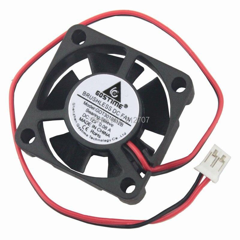 10 Pieces Gdstime 12V 30mm 3cm Sleeve Bearing Blower Fan 30mm x 30mmx 10mm High Speed 0.08A Blower Cooling Cooler Fan