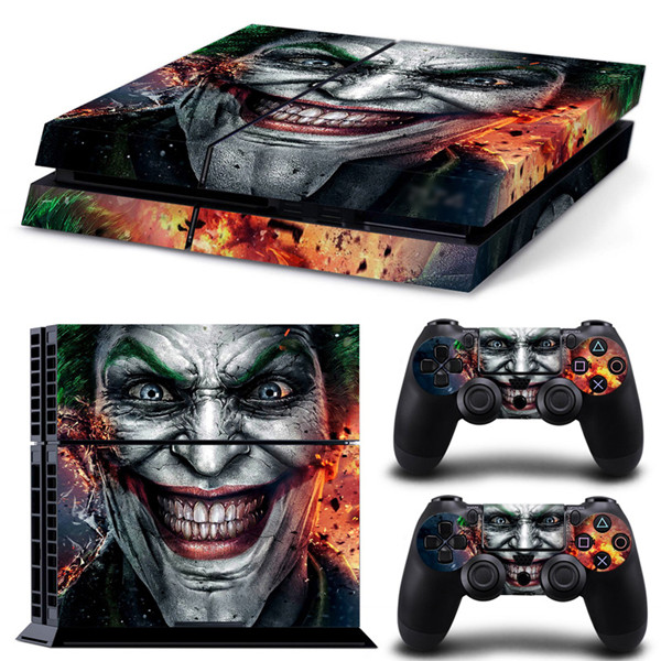 For playstation 4 decal for ps4 skin PVC vinyl sticker for ps4 console and dualshock 4 the Joker VS Batman sticker for ps4 games