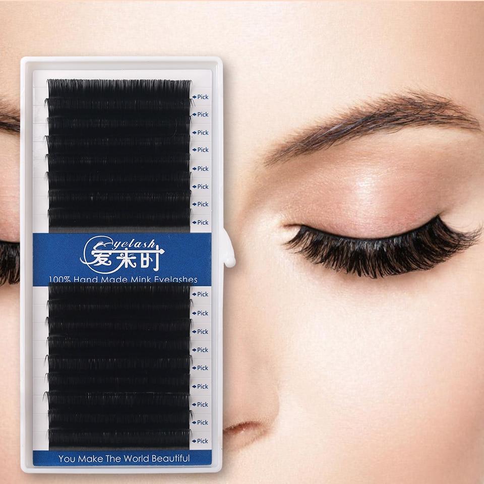 16Rows Individual Eyelashes Extension Silk Volume Eyelash Extension 0.03-0.25 Thick HandMade Eyelashes Premium Eye Lashes Makeup