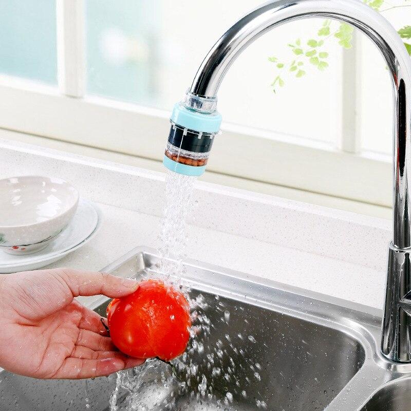 Activo Cocina De Carbono Activado Filtro De Agua De Grifo Purificador De Agua Doméstica Purificador De Agua Quitar El óxido Sedimento Filtrado Suspendido