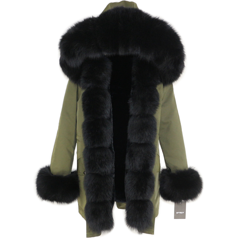 OFTBUY Waterproof Long Parka Winter Jacket Women Real Fur Coat Natural Fox Fur Collar Hood Thick Warm Streetwear Detachable New 73