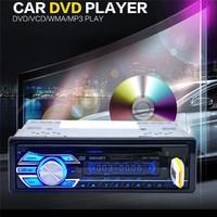 1563U 12 V Car Audio Stereo Odtwarzacz Mp3 USB SD AUX DVD CD Player Remote Samochodów stylizacji FM Auto