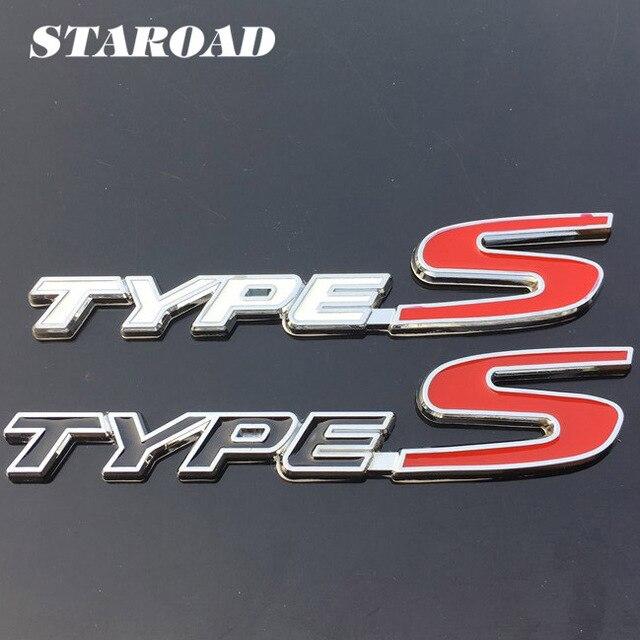 STAROAD D Metal TYPE S Logo Sticker Badge Car Side Rear Emblems For - Acura type s emblem