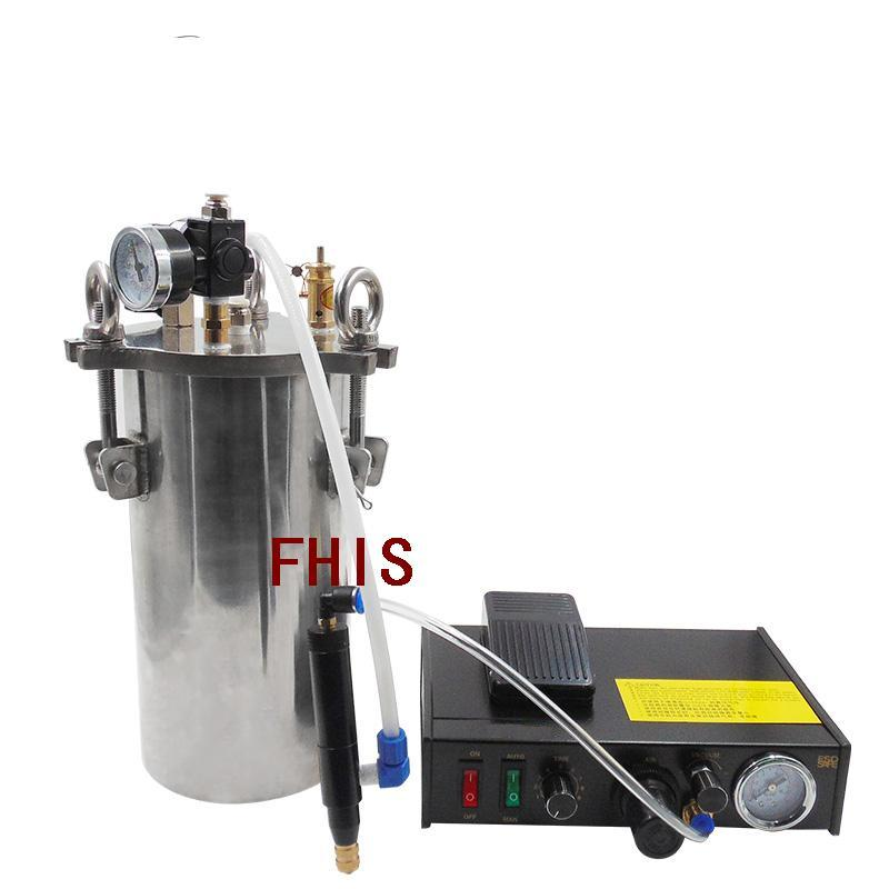 FHIS semi - automatic single - liquid dispenser stainless steel pressure barrel equipment note dispensing valve plug automatic dispenser stainless steel pressure tank thimble style double liquid dispensing valve free shipping fedex or ups