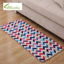 2017 nueva geométrica de la venta tipo de tapetes de cocina marca carpet absorción de agua tapete aseo porche alfombras antideslizantes felpudo 50*120 cm