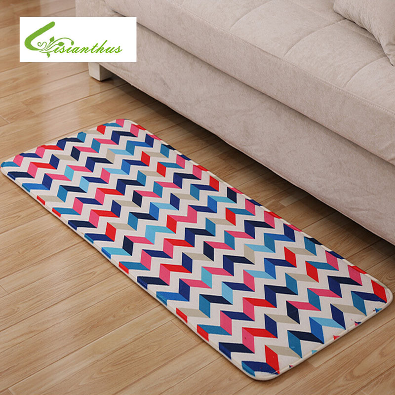 2018 New Sale Geometric Type Floor Mats Brand Kitchen Carpet Toilet ...