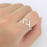100pcs Silver Rune Rings Wholesales Fashion Adjustable Rings For Women Gift