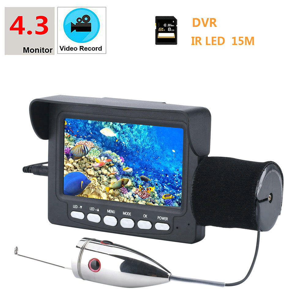 Security & Protection Original Underwater Fishing Camera 15m 1000tvl 4.3 Video Recorder Dvr Fish Finder With 6pcs 6w Infrared Ir Led Ice Fishing Clients First