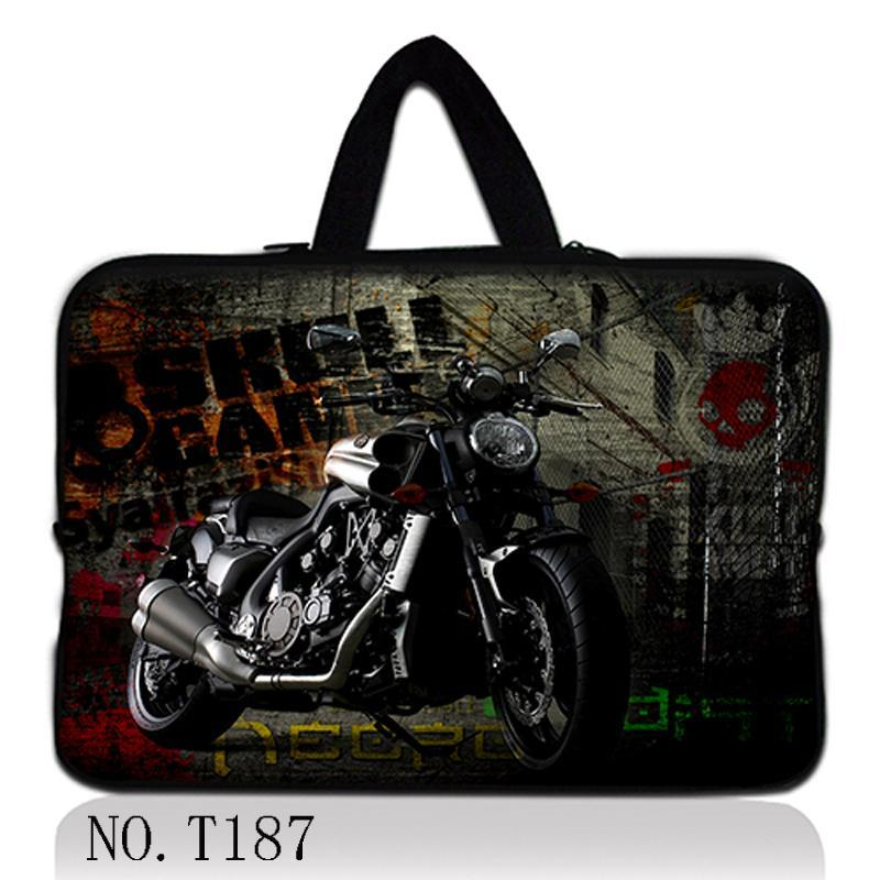 Motorcycle 17 Laptop Notebook Zip Bag Sleeve Soft Case+ Hide Handle For 17.3 HP ENVY DV7