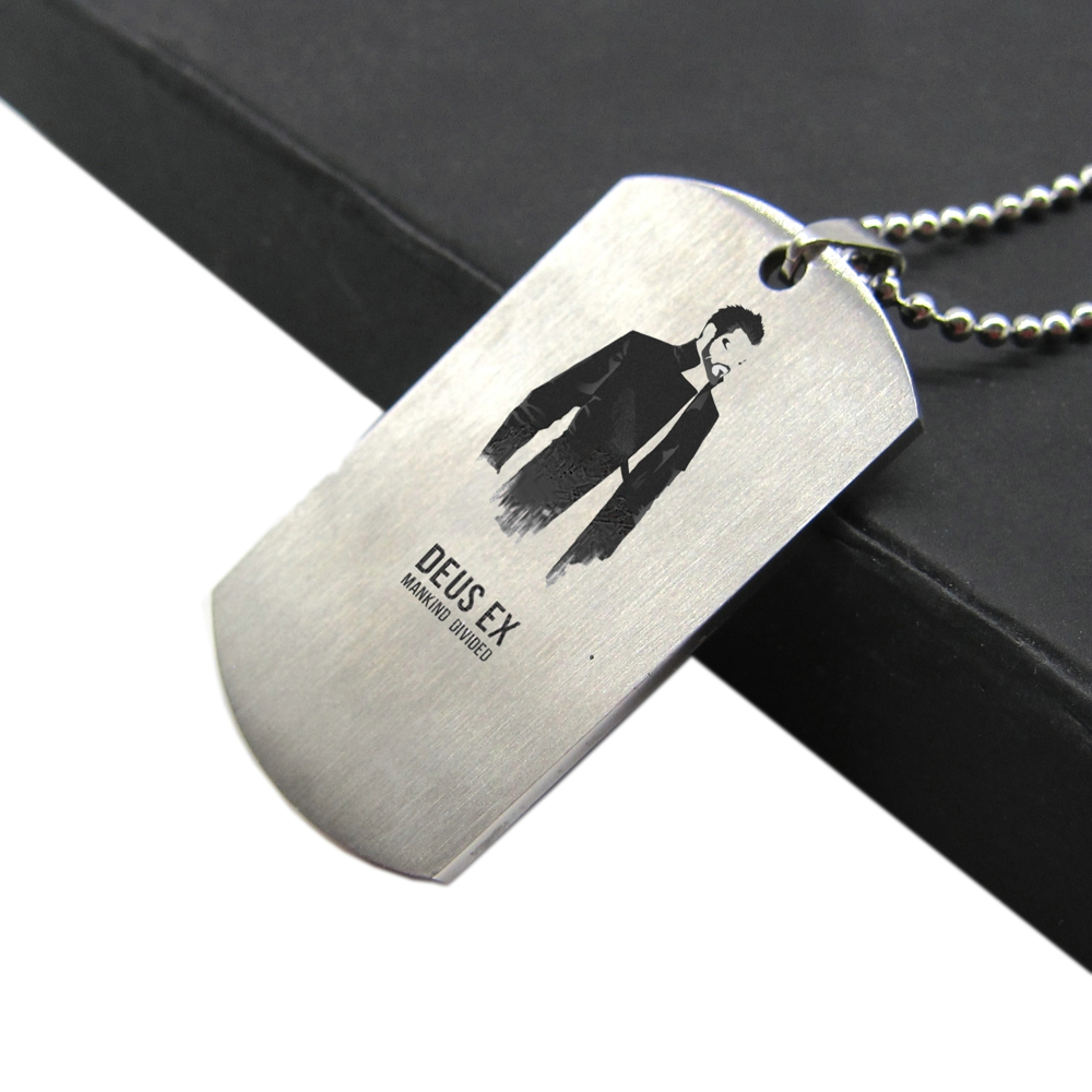 New Game Deus Ex Mankind Divided Necklace Trailer Dog Tag