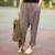 Calças Para As Mulheres 2016 Primavera & Verão Calças De Linho Soltas Calças Harem Pants Femininos das Mulheres Listrado Calças 2 Cores