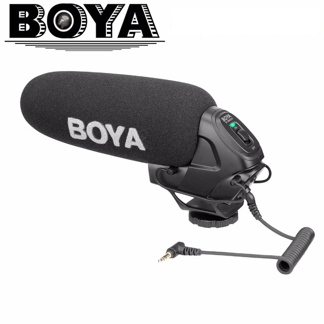BOYA BY BM3030 On Camera Super Cardioid Shotgun Microphone with 3 5mm Input for Universal DSLR