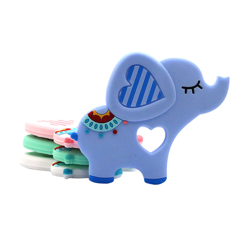 10pcs BPA Free Silicone Teethers Food Grade Beads DIY Teething Necklace Baby Shower Gifts Animals Elephant Shape Teether