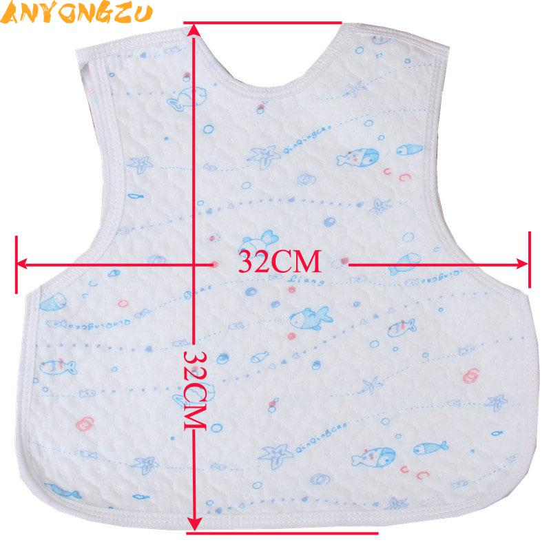 30PCS Anyongzu Unisex Large Wholesale Baby Bib Waterproof With Cotton Bag Rice Children Pattern is random