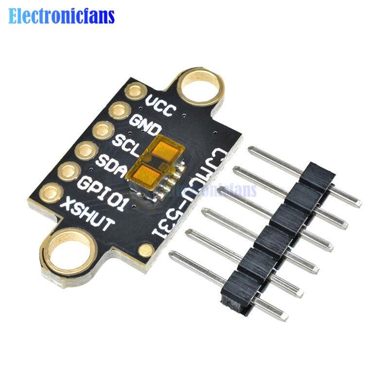 Laser Ranging VL53L1X Tempo de Vôo Módulo Sensor Placa de Extensão de 400 centímetros de Distância de Medição Módulo CJMCU-531