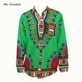2016 Nuevo Diseño Africano Dashiki camisetas unisex para Las Mujeres Africanas Tradicionales de Impresión 100% Algodón Camisa Dashiki