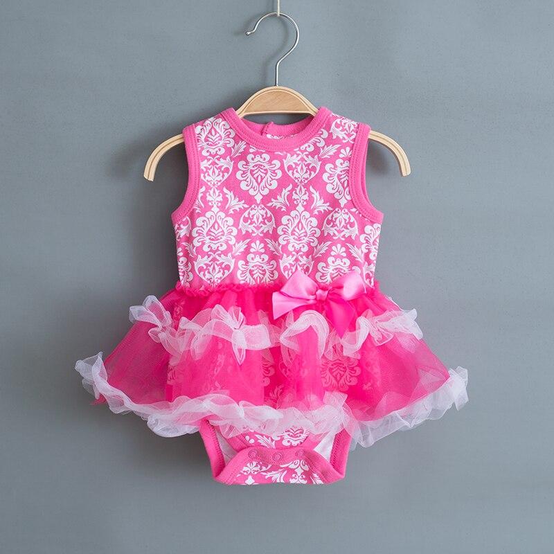 Druk dla dzieci Girls Dress 2018 Summer Infant Party Dress na 1 rok - Odzież dla niemowląt - Zdjęcie 2