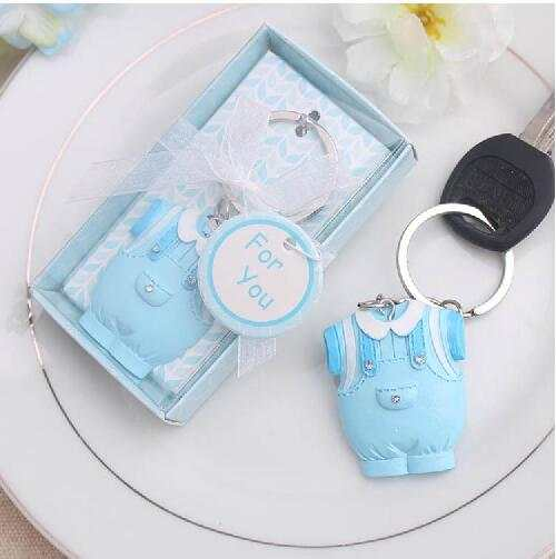 Online Shop 50pcs Free Shipping Pink Blue Keychain Favor For Newborn