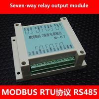MODBUS RTU protocol 7 relay output module RS485 PLC module