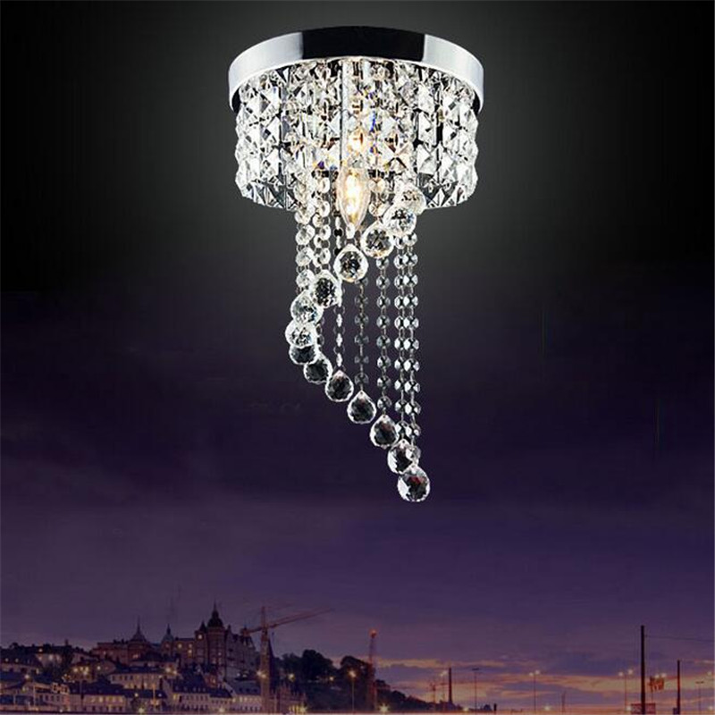 NEW Creative Modern Luxurious K9 Crystal Led Ceiling Light for Aisle Living Room Bedroom Dia 20/25cm Surface Mounted Lamps 1492 modern fashion creative k9 crystal wifi design led 9w wall lamp for living room bedroom aisle corridor bathroom 80 265v 2063