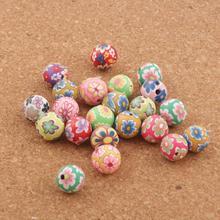цена на 300PCS 10mm mix Polymer Clay Fimo Round Beads Handmade Spacers Jewelry DIY Loose Beads L3010