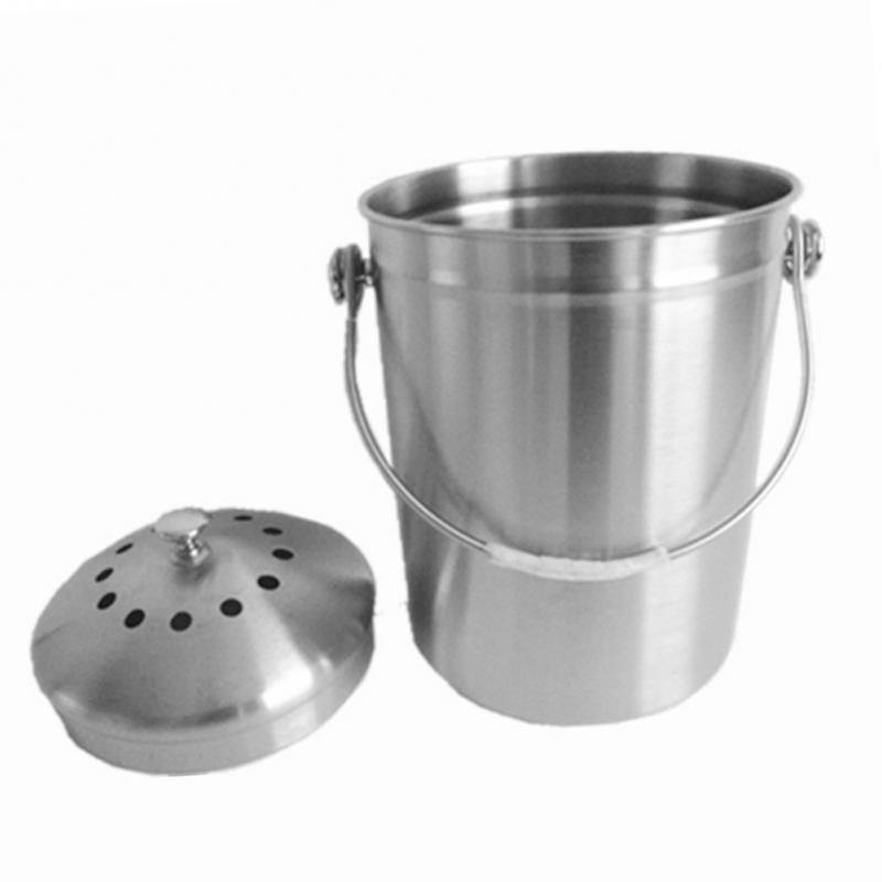 Home Kitchen Office Silver Color Recycling Container Lid
