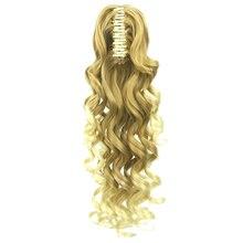 Soowee 5 Цветов Длинные Коричневые Светлые Волнистые Клип В Наращивание Волос Конский Хвост Высокая Температура Волокна Синтетические Волосы Коготь Хвостики