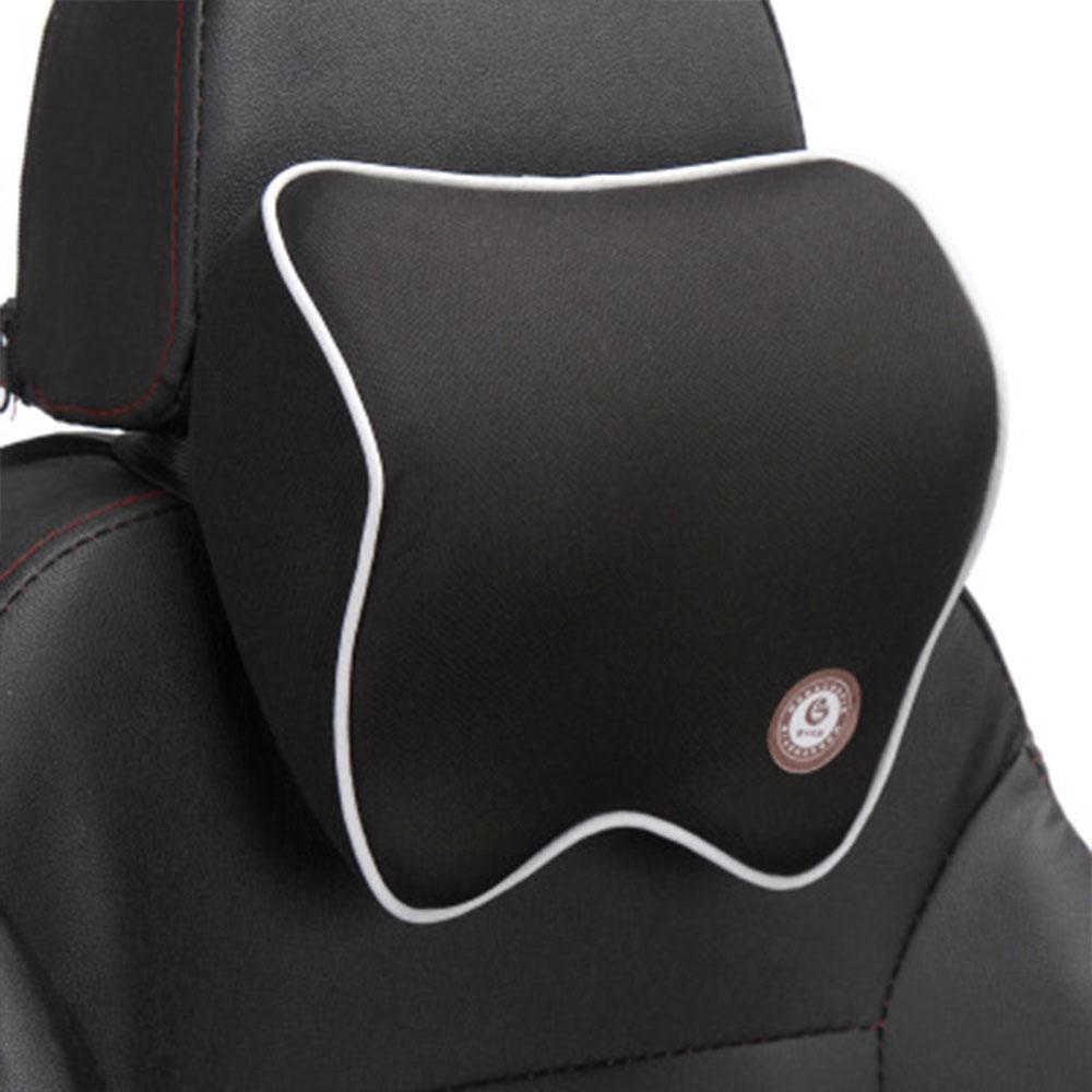 Vehemo автомобильные подушки для шеи подголовник автомобиля дышащие удобные сиденья Шейная поддержка шеи Подушка четыре сезона - Название цвета: black white