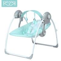 Babyruler Electric Baby Swing Chair Bouncer Music Rocking For Baby Bebek Salincak Newborn Baby Sleeping Basket automatic cradle