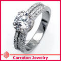 Free Shipping Genuine 925 Sterling Silver Cubia Zirconia Ring  Dazzling 1 Carat Heart and Arrow Cut CZ Diamond Ring