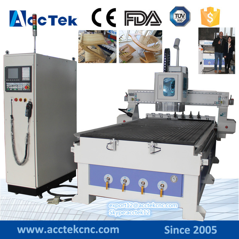 syntec cnc controller 1325 4 axis cnc wood router engraver woodworking machines china ATC cnc machine tool changer