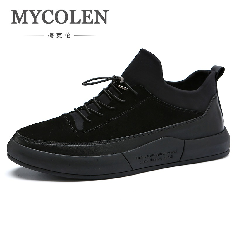 MYCOLEN Hot Sale Men Shoes Comfortable Spring/Autumn Breathable Casual Shoes High Quality Wear-Resistant Black High-Top Shoes hot sale 2016 top quality brand shoes for men fashion casual shoes teenagers flat walking shoes high top canvas shoes zatapos