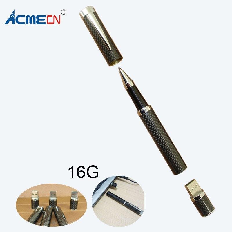 ACMECN 2018 offre spéciale qualité supérieure Full Carbon fibre USB Stylo avec 16 GB Mémoire pour PC ou ordinateur portable Accessoires clé USB Stylo
