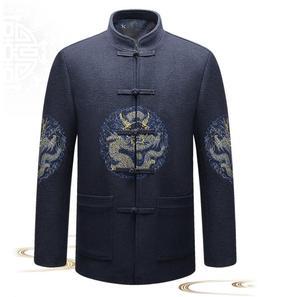 Image 1 - סיני סגנון גברים מעיל 2018 חדש אופנה YK900