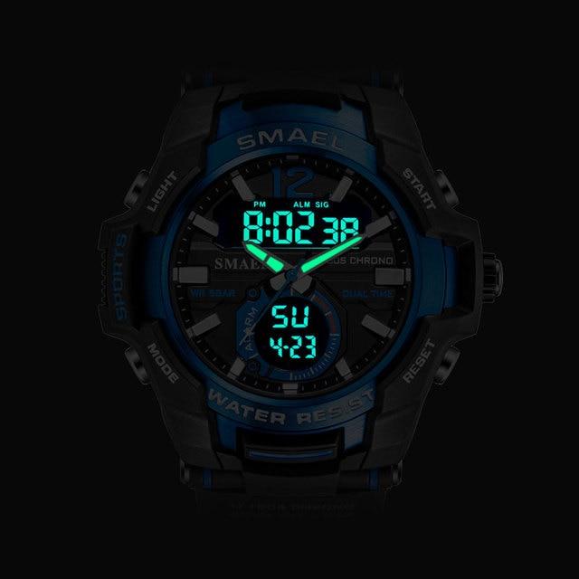Smael 2020 relógios masculinos moda esporte super legal quartzo led relógio digital 50 m relógio de pulso à prova dwaterproof água relógio masculino 2