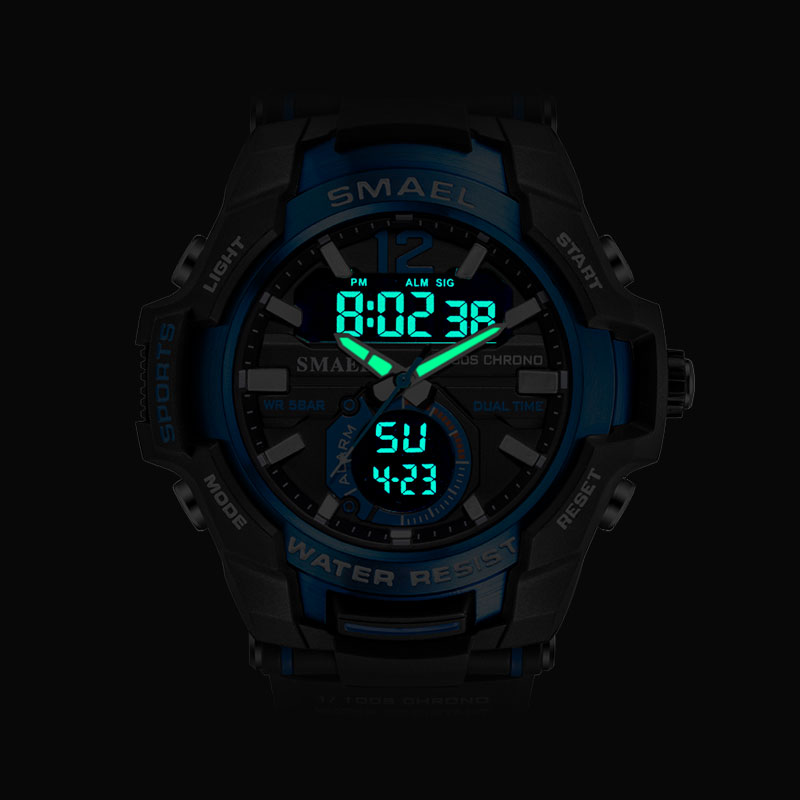 SMAEL 2020 Men Watches Fashion Sport Super Cool Quartz LED Digital Watch 50M Waterproof Wristwatch Men's Clock Relogio Masculino 2