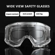 c29a4556cf7edb Transparante Veiligheidsbril Anti-Splash Slagvast Werk Veiligheid  Beschermende Bril Voor Timmerman Rider Eye Protector