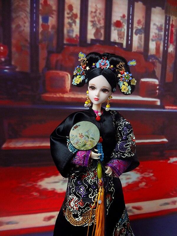 32 cm coleccionable muñecas chinas tradicionales de la dinastía Qing muñeca de la princesa 1/6 muñeca Oriental de la muchacha juguetes regalos de cumpleaños de Navidad