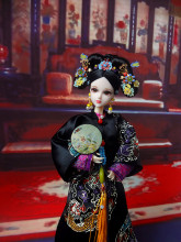 32cm Collectible Chinese Dolls Traditional Qing Dynasty Princess Doll 1/6 Oriental Girl Dolls Toys Christmas Birthday Gifts chinese princess dolls collectible oriental doll bjd girl doll toys with flexible joints body 3d realistic eyes souvenir gifts