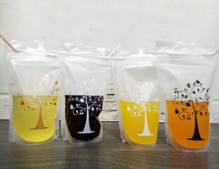 1000pcs Transparent Self-sealed Plastic Beverage Bag DIY Drinkware Drinking Bag Fruit Juice Food Storage Bag SN1218