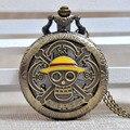 Fashion Personality One Piece Skull Pirate Quartz Pocket Watch Retro Male Female Watch Gift Reloj A066