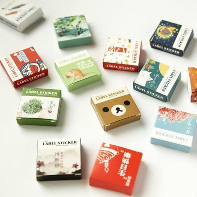 40 Pcs/box Cute Cartoon Plants Succulents Mini Paper Sticker Decoration Diy Ablum Diary Scrapbooking Label Sticker Stationery