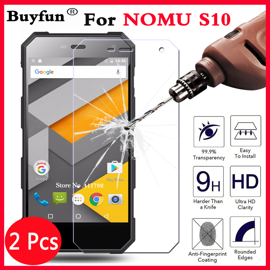 2Pcs For NOMU S10 S 10 Screen Protector Tempered Glass Film Anti-Explosion 9H 2.5D Premium Not Full Cover Protective Films Case