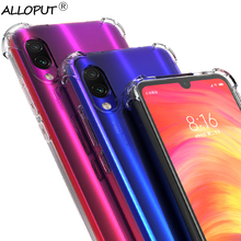цены Airbag Silicone Case Redmi Note 7 Xiaomi Clear Cover Redmi 7A shockproof Xiaomi Note 7 Case Xiaomi Redmi Note 8 Pro TPU Case