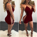 De Las Mujeres del verano Jupsuit Sexy Cuello En V Profundo Backless Side Hollow Out Night Club Short Body General Playsuit Combinaison Femme Sexy