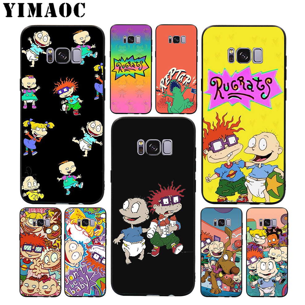 YIMAOC Rugrats Cartoon Cute Soft Silicone Case for Samsung Galaxy S9 S8 A6 Plus 2018 S7 S6 Edge A5 A3 2017 2016 Note 9 8