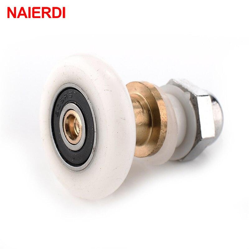 8 x Rodillos para puerta de ducha//corredores peque/ños de repuesto 25 ruedas de di/ámetro