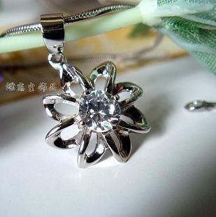 Wholesale  10pc/lot 2010 hot Hearts and Arrows Diamond 925 Silver Pendant pendant Switzerland