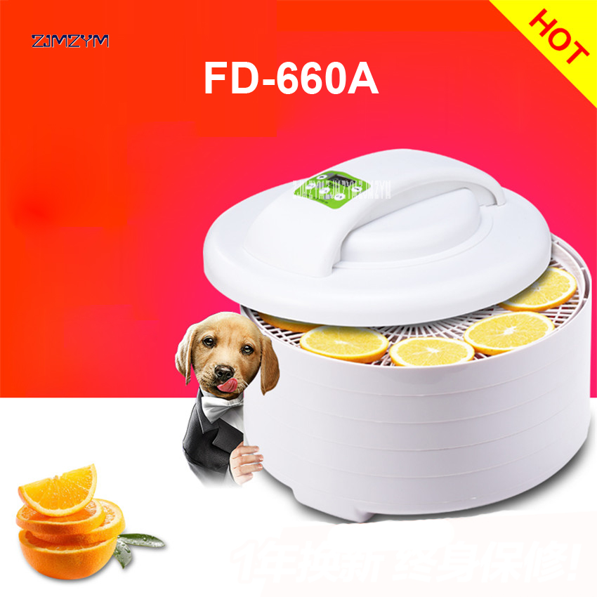 FD-660A Home electric food meat fruit vegetable herb dehydrator dryer jerky dehydrator drying machine oven dehumidifier 0-250W image