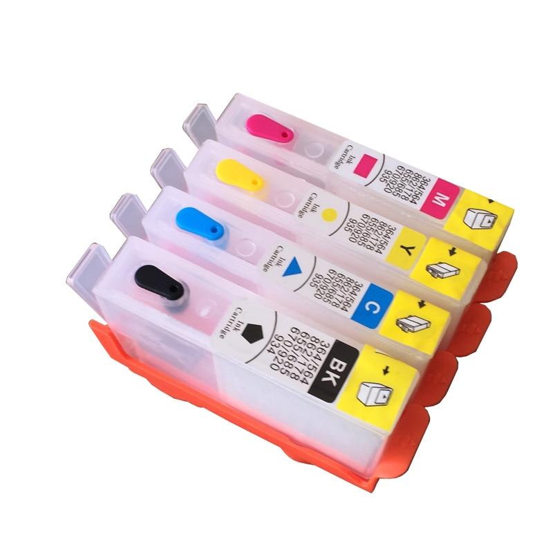4 colores para HP 655 HP655 recargable vacía cartucho de tinta con rearmables Chip para HP Deskjet serie 3525, 4615, 4625, 5525, 6525 impresora